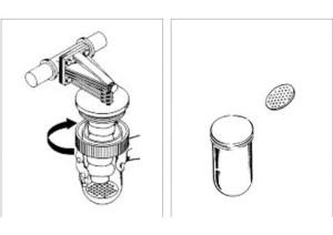 smontaggio coppa filtro anticalcare