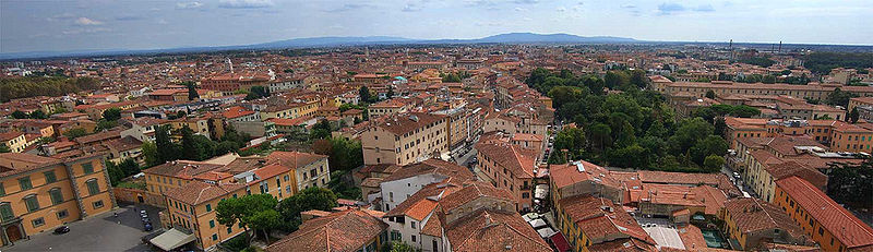 Pisa panorama città