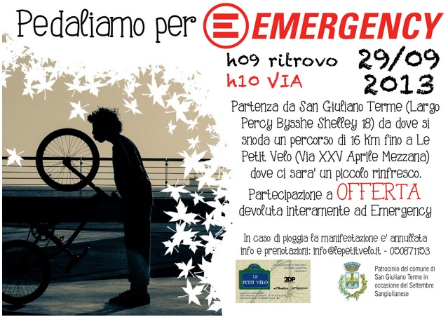 Pedaliamo per Emergency 29 Settembre 2013