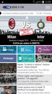 Anteprima app Serie A TIM Info e Costi