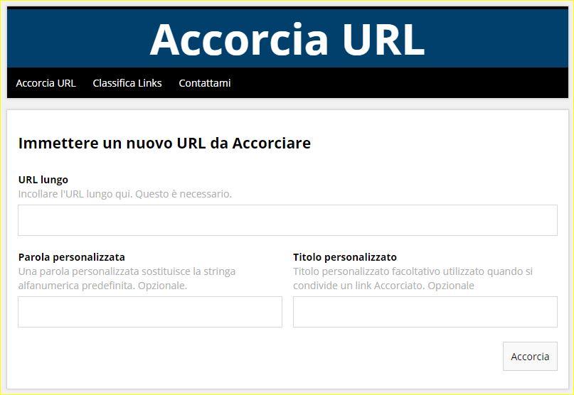 Accorcia URL 2.0