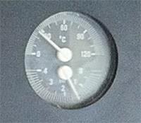 indicatore valori temperatura e pressione della caldaia